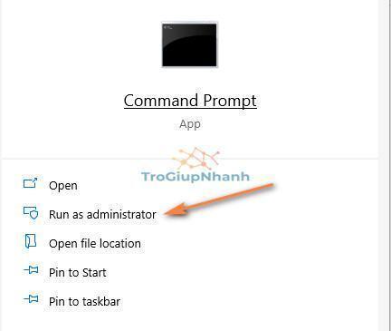 Cách mở Command Prompt