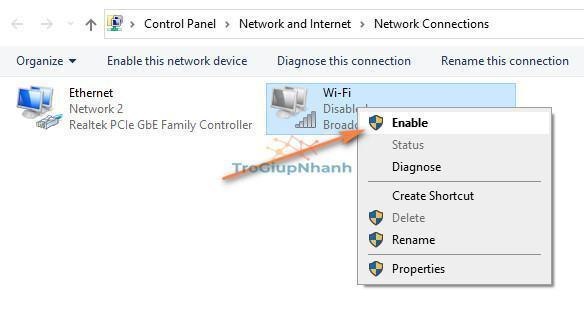 loi may tinh khong bat duoc wifi