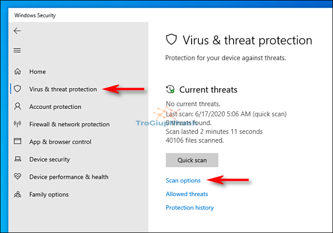 quet virus tren windows 10