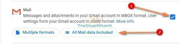 sao luu tai khoan gmail