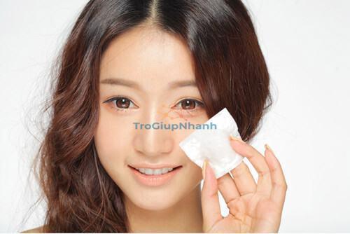 Làm sạch da khi tẩy trang