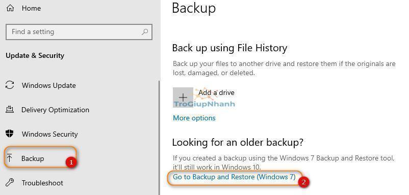 Cách backup windows 10
