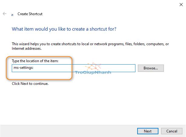 Shortcut Windows 10