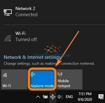 Tắt chế độ máy bên trên Windows 10