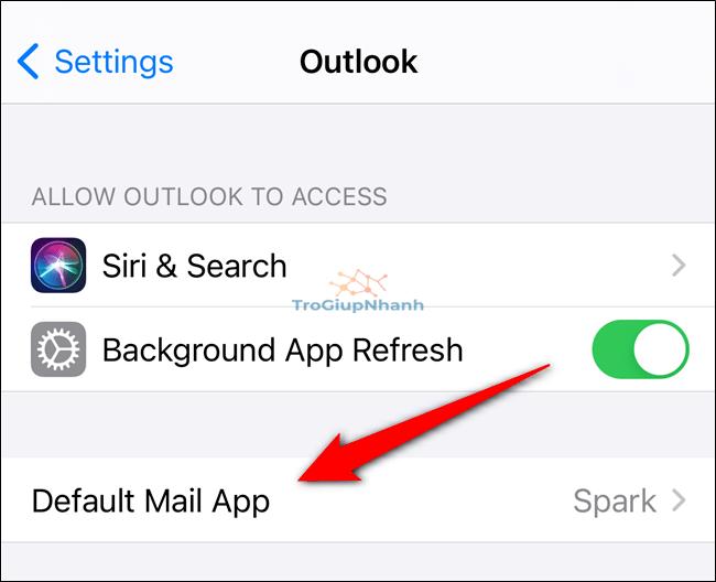 Chọn ứng dụng mặc định trên iphone