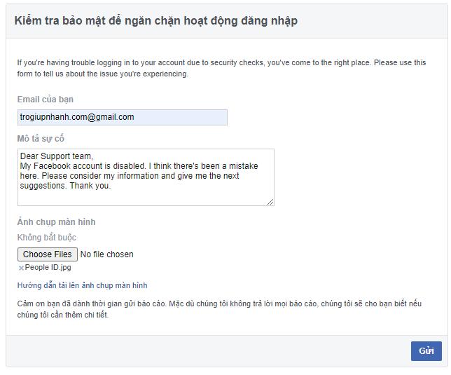 Facebook bị vô hiệu hóa