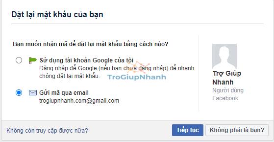 Tìm mật khẩu Facebook