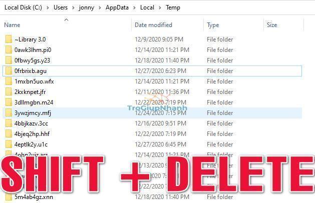 xóa file rác của windows