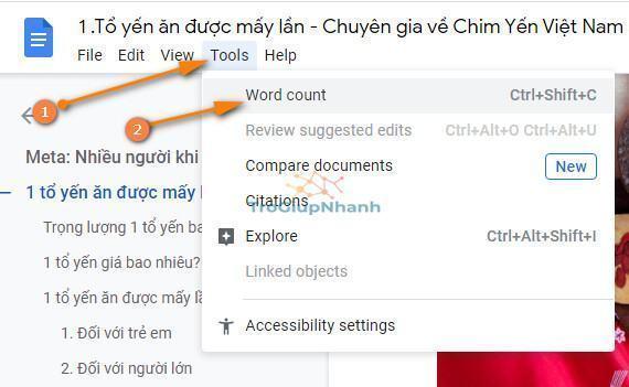 Photo of Cách đếm số lượng từ và chữ trên Google Docs