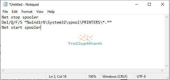 dán code vào notepad