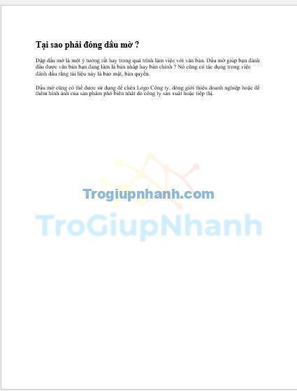 Photo of Cách đóng dấu mờ trong Word để đánh dấu bản quyền, bảo mật tài liệu