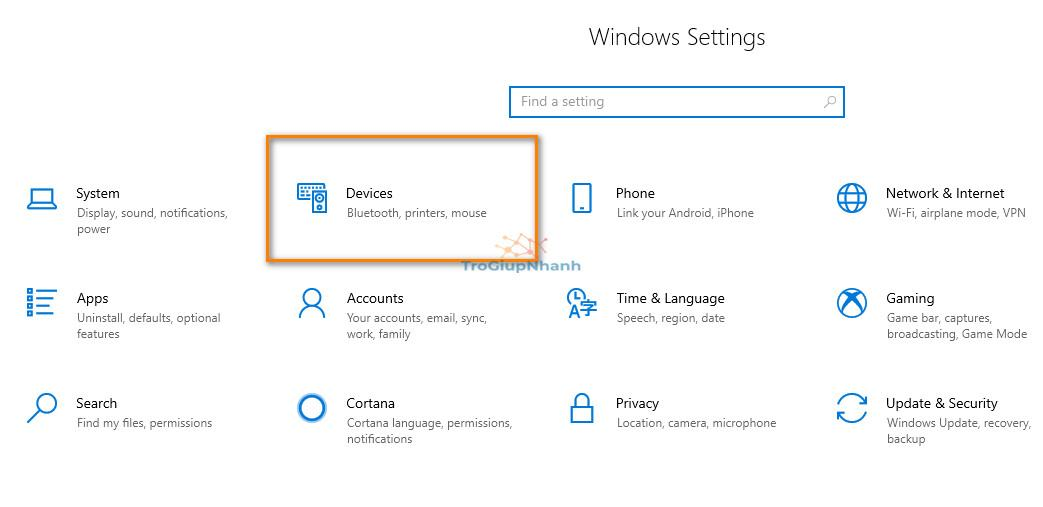 cửa sổ settings windows