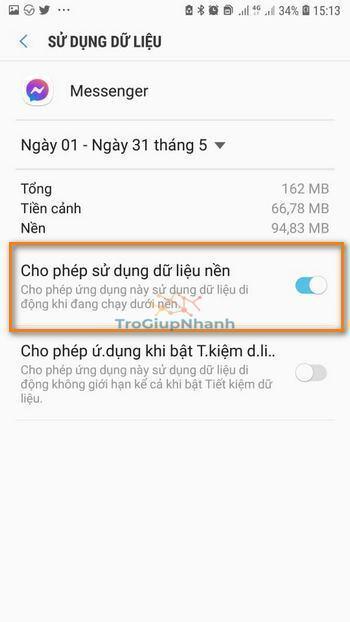 dữ liệu messenger