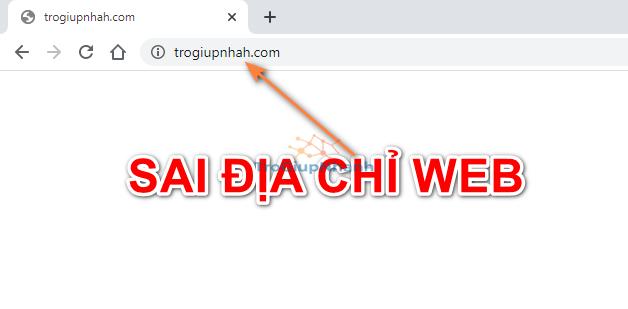 Nhập sai URL