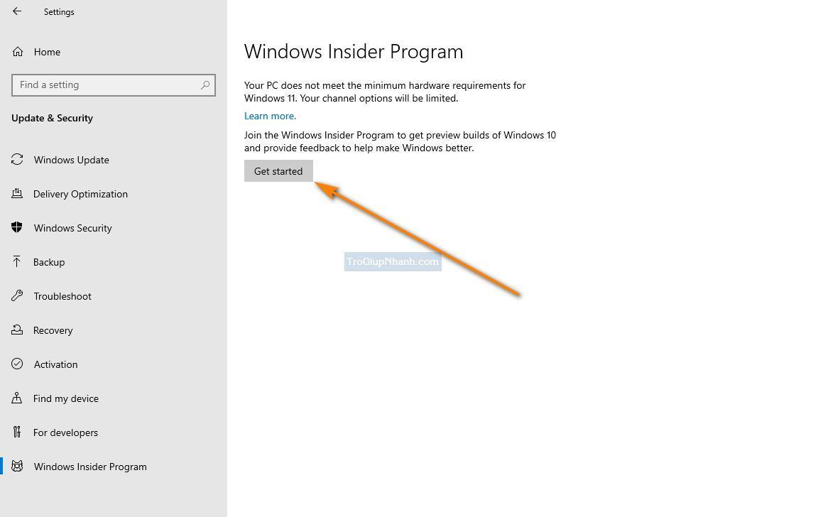 Đăng ký Windows insider