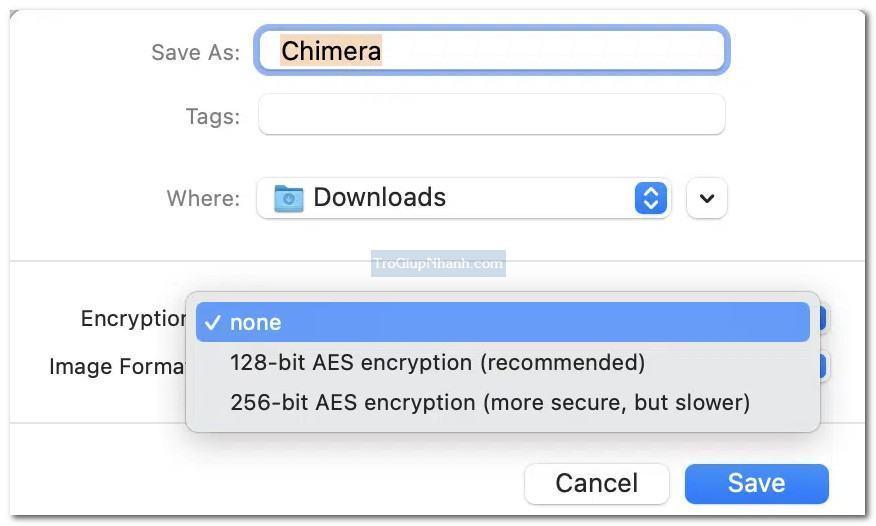 tạo mật khẩu thư mục